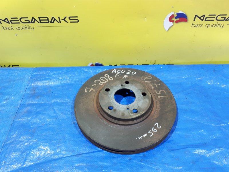 Тормозной диск Toyota Kluger MCU20 передний ДИА.295 (б/у)