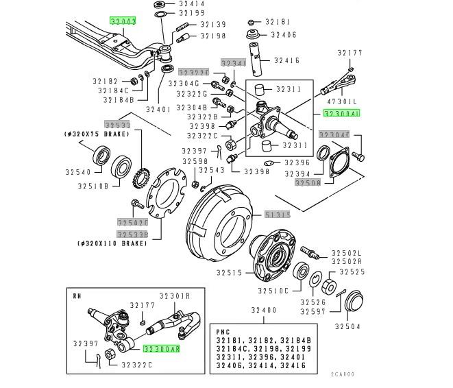 Балка подвески Mitsubishi Canter FE658G 4D35 1997 (б/у)