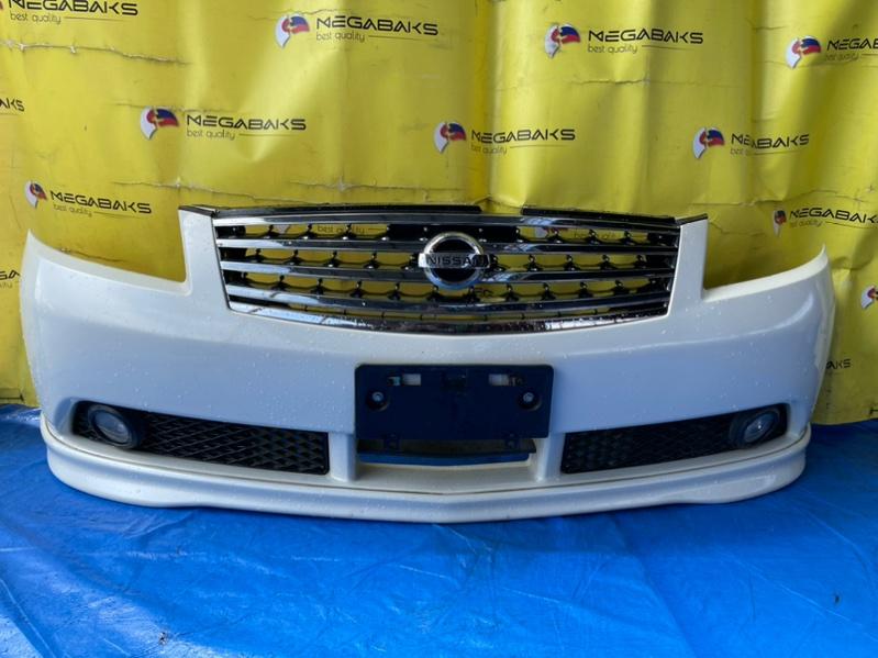 Бампер Nissan Fuga GY50 передний I MODEL (б/у)