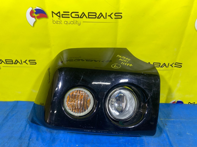 Клык бампера Mitsubishi Pajero Mini H58A передний левый (б/у)
