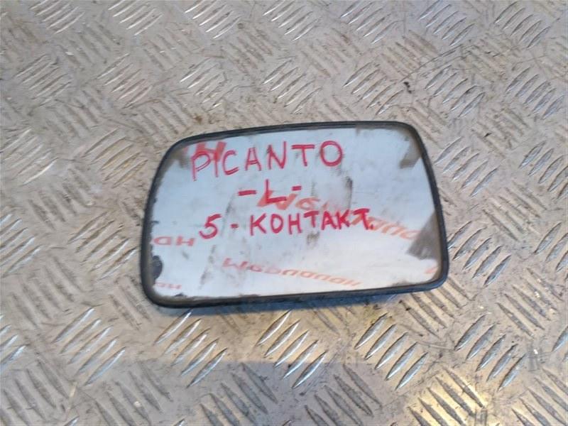 Стекло зеркала электрического левого Kia Picanto 1 2006 (б/у)