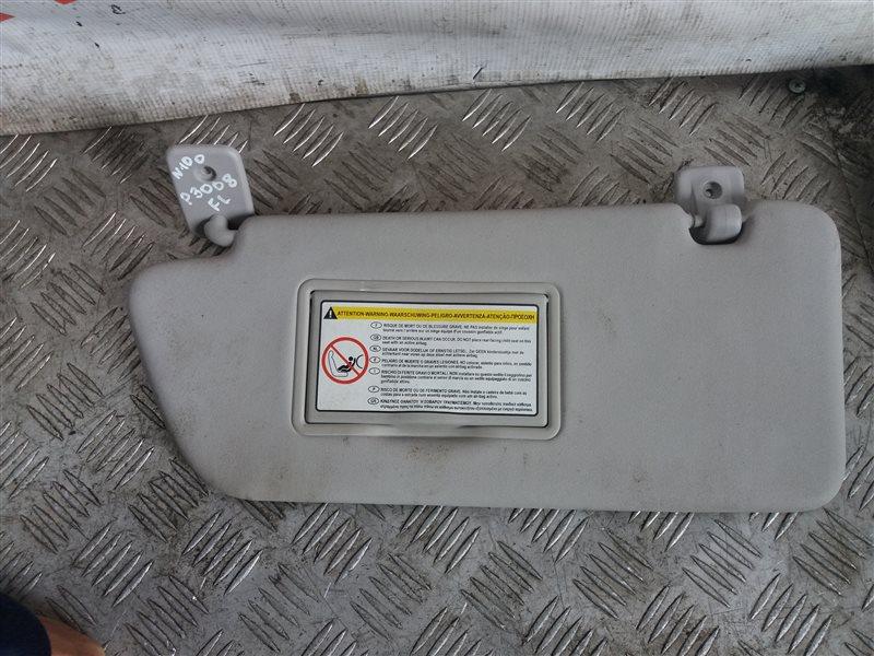 Козырек солнцезащитный Peugeot 3008 1.6 2012 левый (б/у)