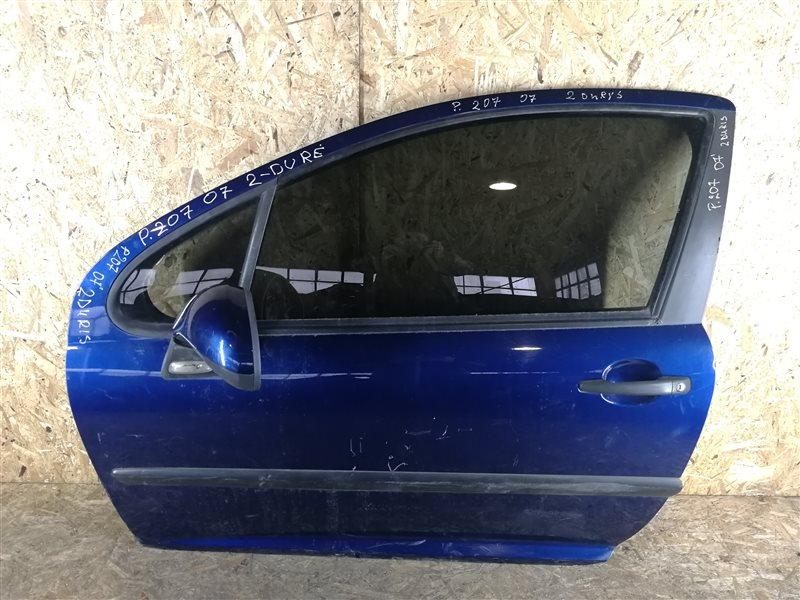 Дверь передняя левая Peugeot 207 2007 (б/у)