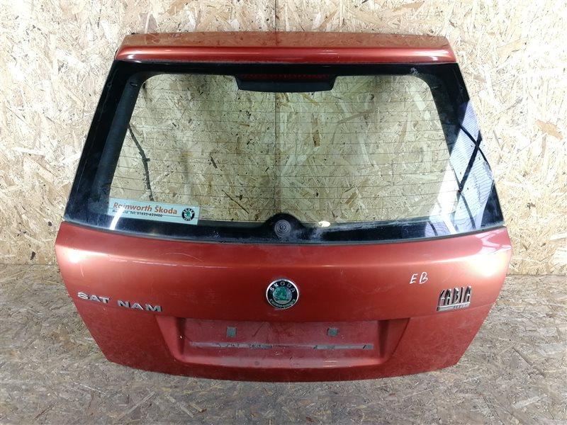Дверь багажника Skoda Fabia 2006 (б/у)