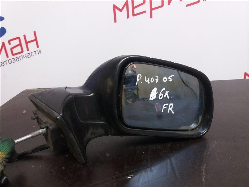 Зеркало правое электрическое Peugeot 407 2005 (б/у)