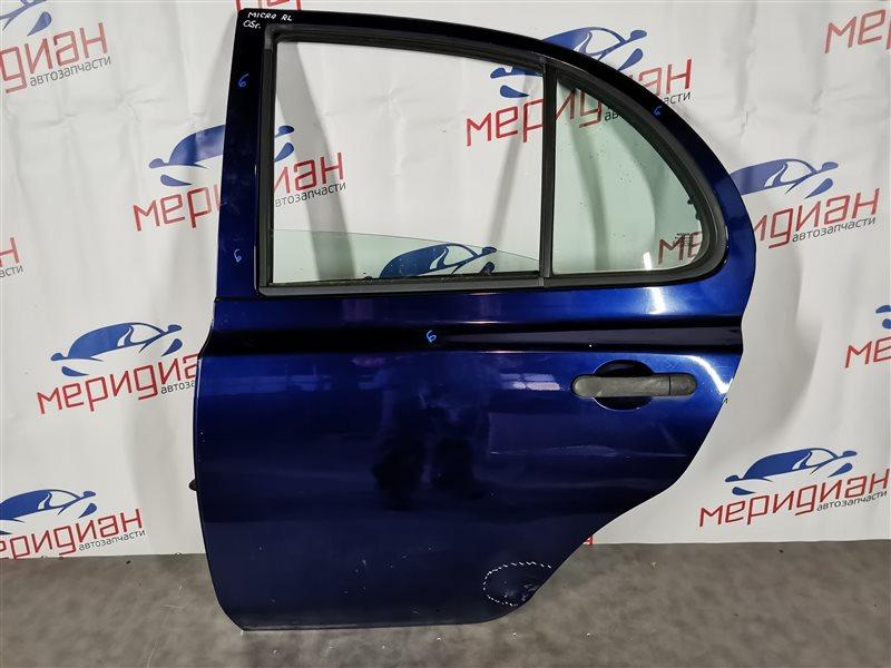 Дверь задняя левая Nissan Micra K12E 2005 (б/у)