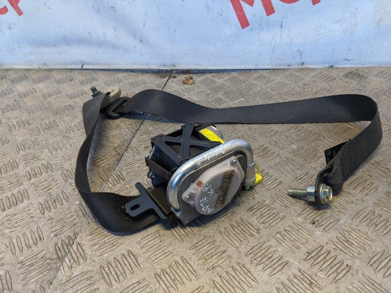 Ремень безопасности с пиропатроном передний левый Nissan Note E11 2009 (б/у)