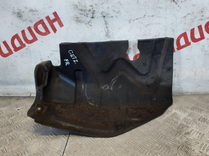 Пыльник двигателя нижний правый Hyundai Getz 2007 (б/у)