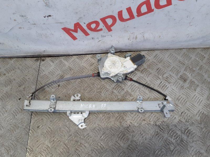 Стеклоподъемник электрический передний правый Nissan Micra K12E 2005 (б/у)