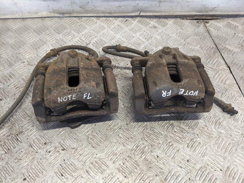 Суппорт тормозной Nissan Note E11 2009 (б/у)