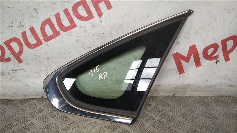 Стекло кузовное глухое правое Nissan Almera G15 1.6 2015 (б/у)