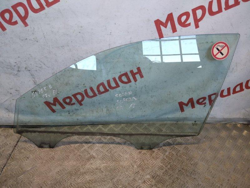 Стекло двери передней левой Skoda Superb 2005 (б/у)