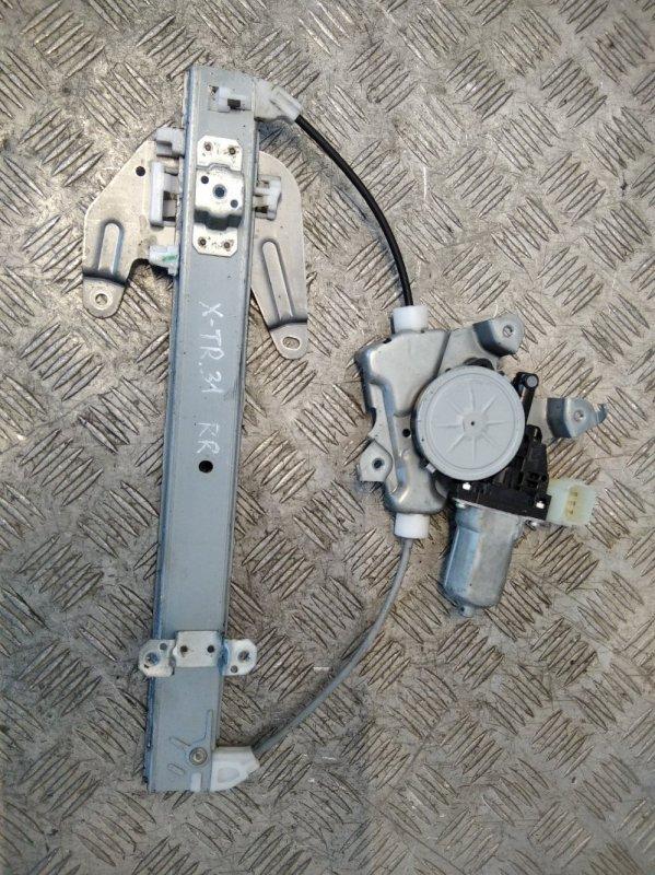 Стеклоподъемник электрический задний правый Nissan X-Trail T31 2008 (б/у)