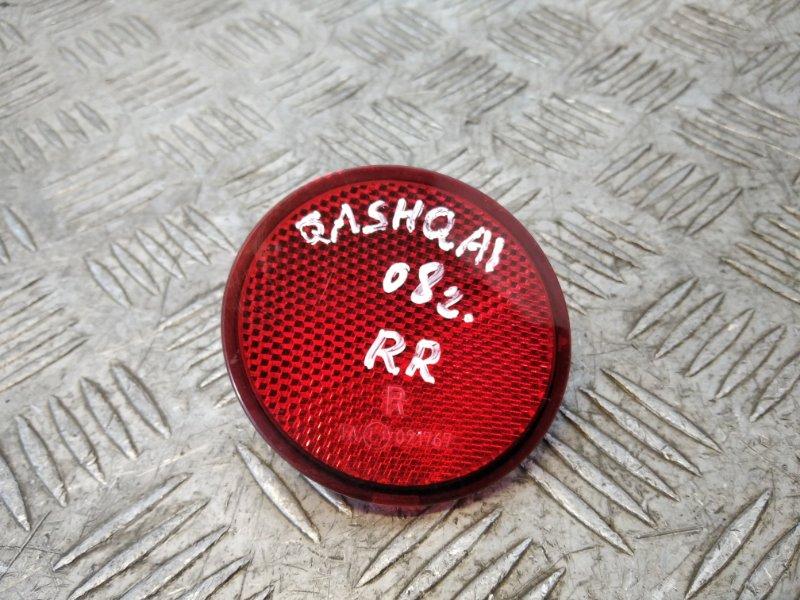 Отражатель в бампер задний правый Nissan Qashqai J10 2007 (б/у)
