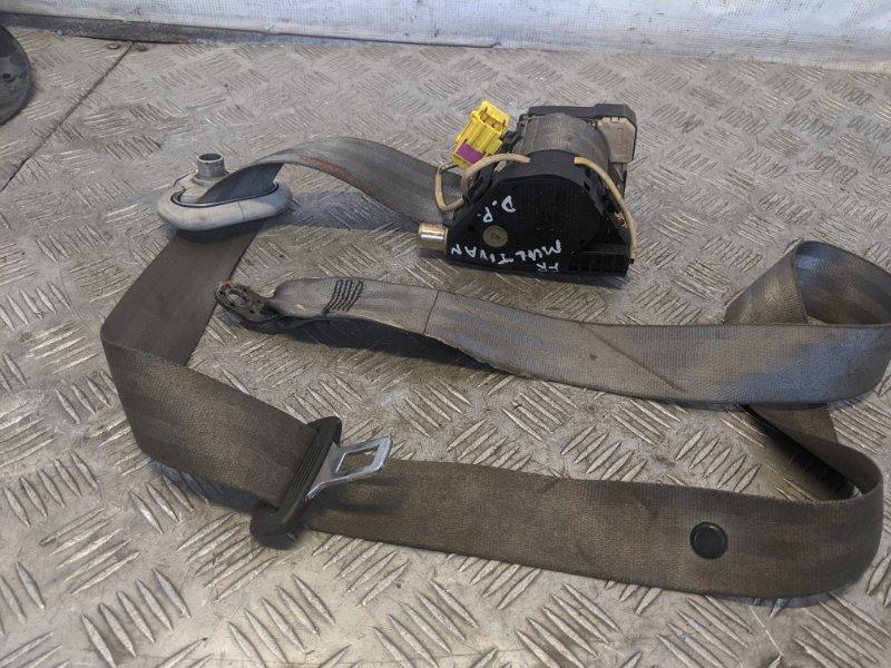 Ремень безопасности с пиропатроном передний правый Volkswagen Caravelle T5 2009 (б/у)