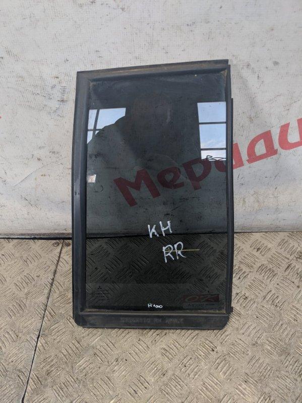 Стекло двери задней правой (форточка) Mitsubishi Pajero Sport KH 2.5 2011 (б/у)