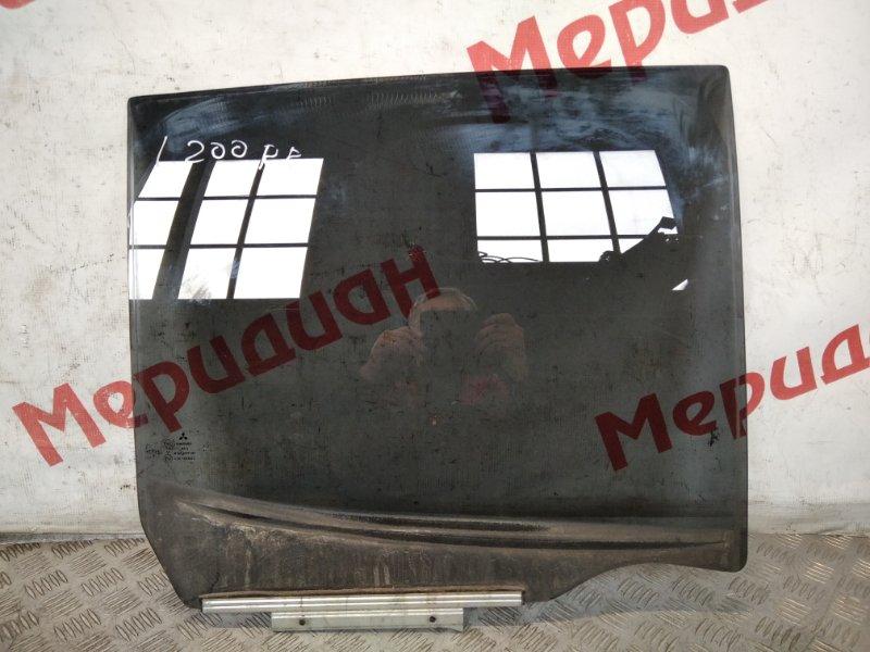 Стекло двери задней правой Mitsubishi L200 KB 2009 (б/у)