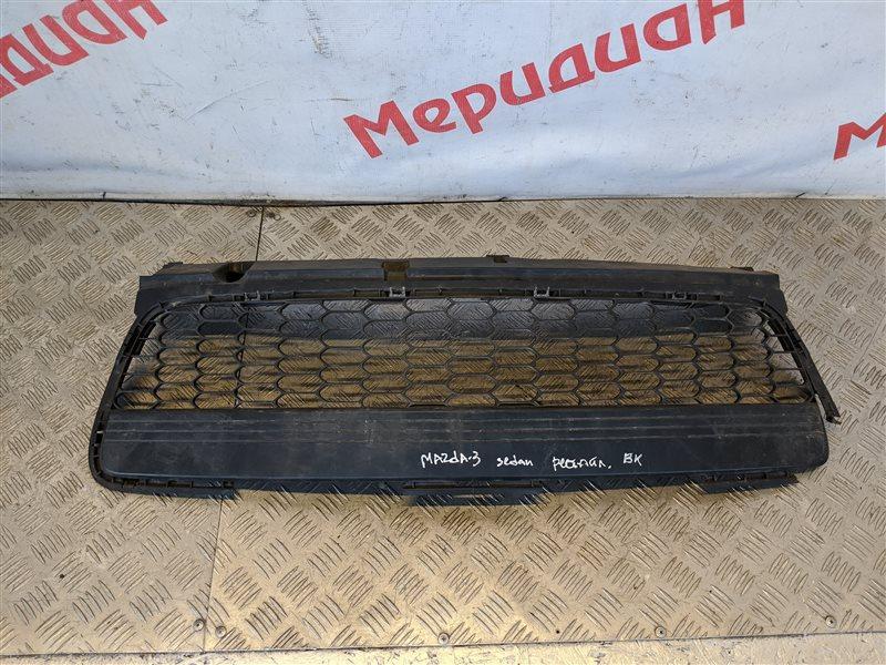 Решетка в бампер центральная Mazda 3 BK 2007 (б/у)