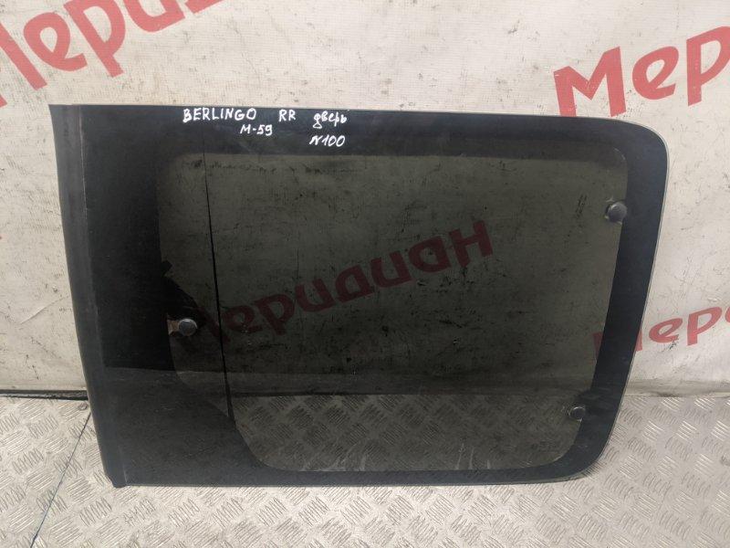 Стекло двери сдвижной правой Citroen Berlingo M59 2006 (б/у)
