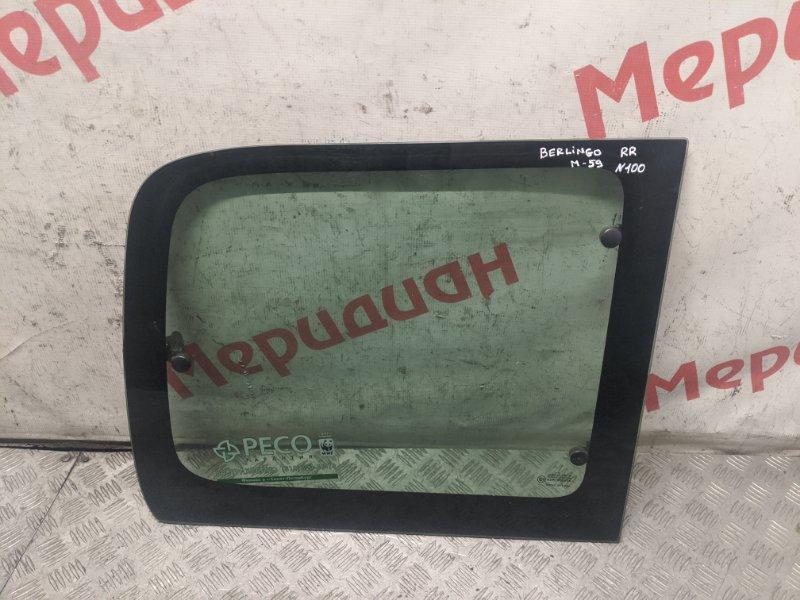 Стекло кузовное открывающееся (форточка) правое Citroen Berlingo M59 2006 (б/у)