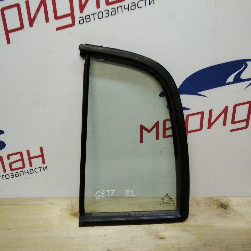 Стекло двери задней левой (форточка) Hyundai Getz 2008 (б/у)