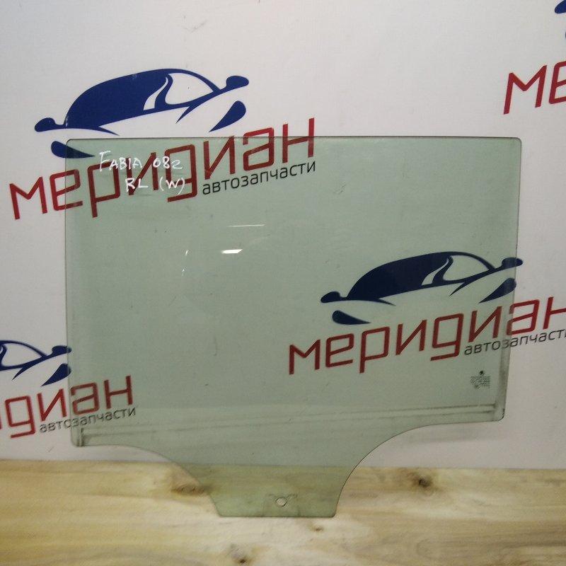 Стекло двери задней левой Skoda Fabia 2008 (б/у)