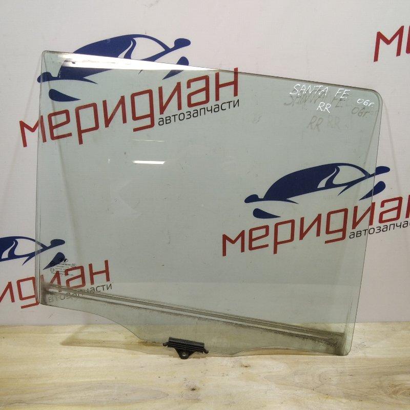 Стекло двери задней правой Hyundai Santa Fe CM 2006 (б/у)