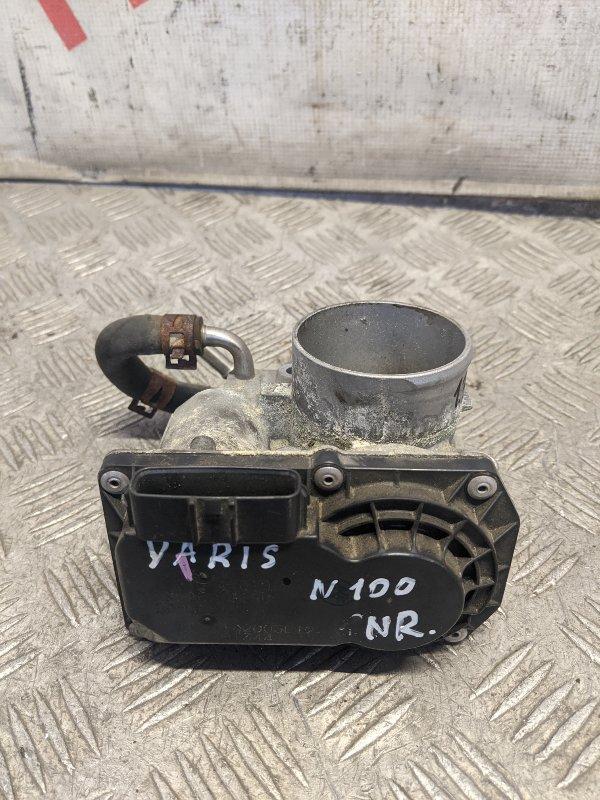 Заслонка дроссельная электрическая Toyota Yaris II 2007 (б/у)