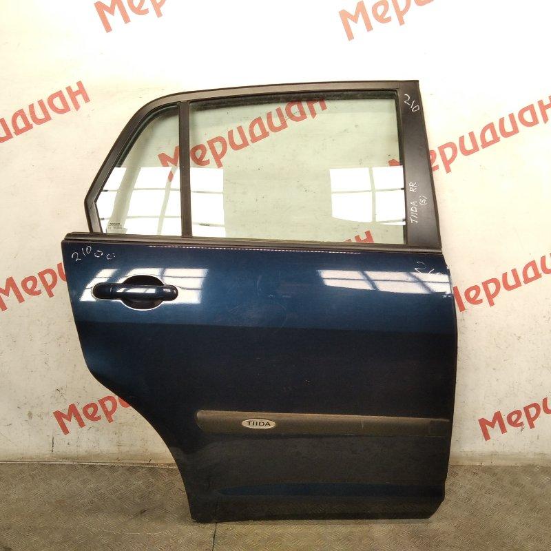 Дверь задняя правая Nissan Tiida C11 2009 (б/у)
