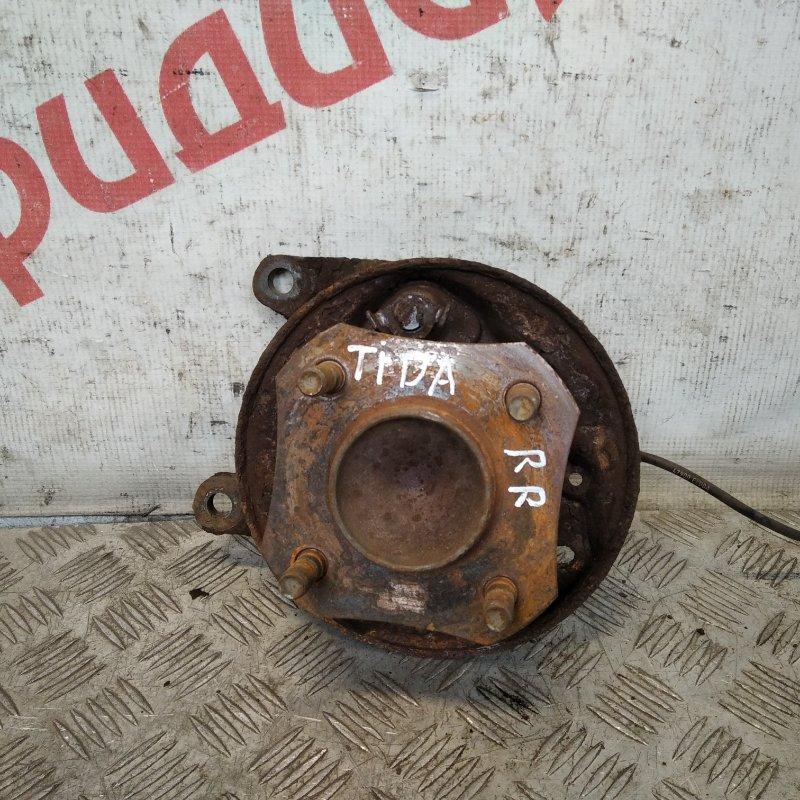 Кулак поворотный задний правый Nissan Tiida C11 1.6 2009 (б/у)