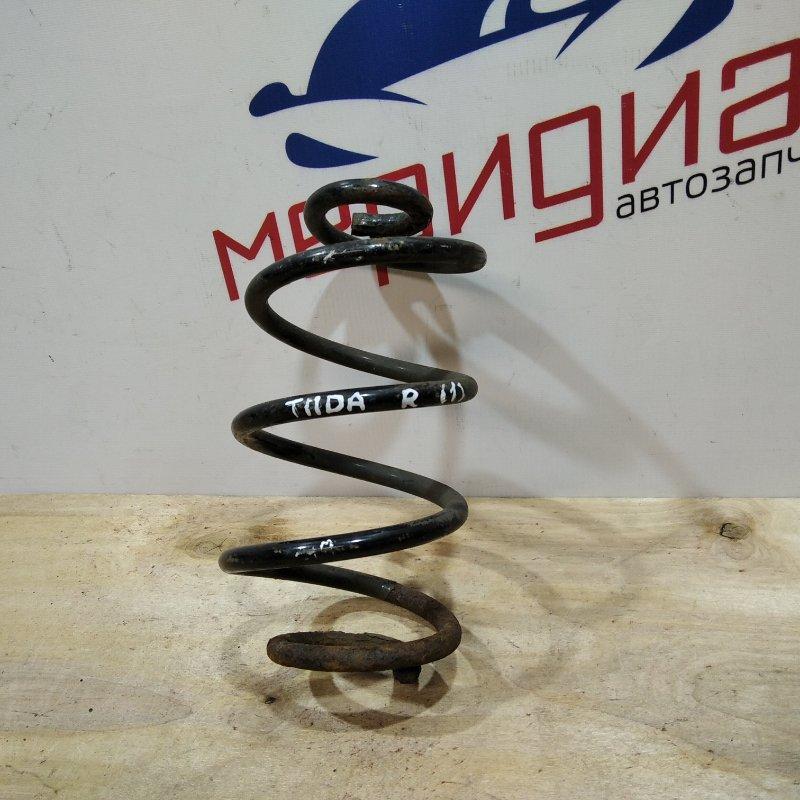 Пружина задняя Nissan Tiida C11 1.6 2009 (б/у)