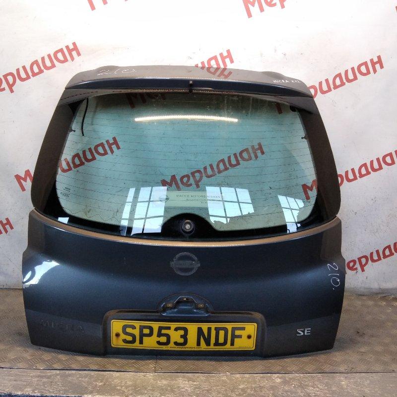 Дверь багажника Nissan Micra K12E 2006 (б/у)