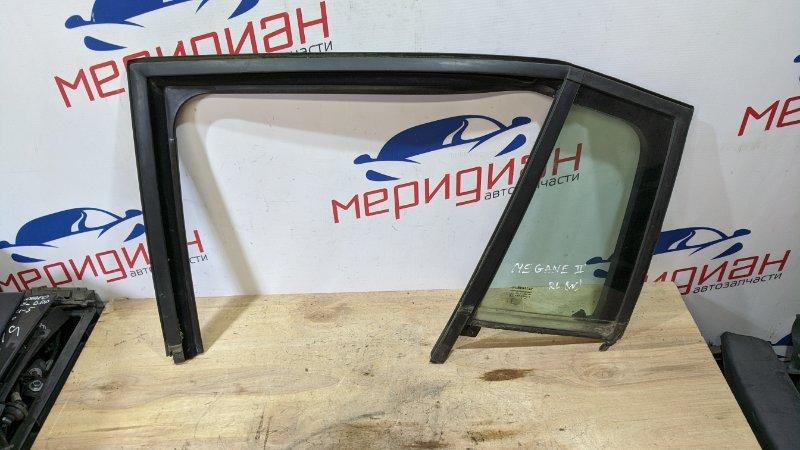 Стекло двери задней левой (форточка) Renault Megane II 2006 (б/у)