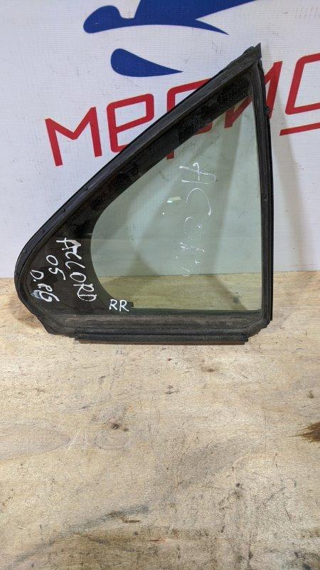 Стекло двери задней правой (форточка) Honda Accord VII 2006 (б/у)