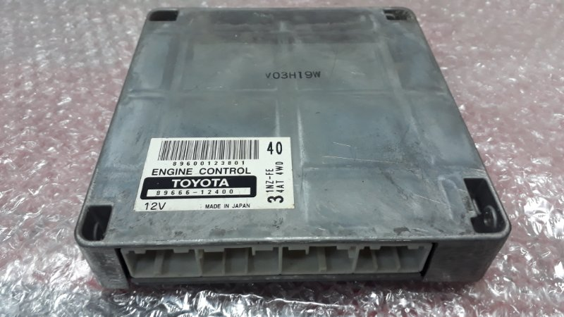 Блок управления двс Toyota Fielder NZE121 1NZFE 2000 (б/у)