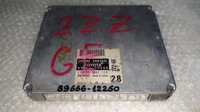 Блок управления двс Toyota Corolla Runx NZE121 2ZZGE 2001 (б/у)