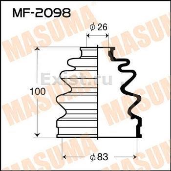 Пыльник ШРУСа наружный MITSUBISHI (83X26X100)
