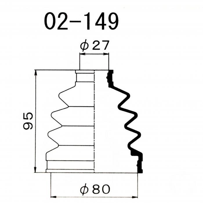 Пыльник ШРУСа наружный NISSAN (80X27X95)