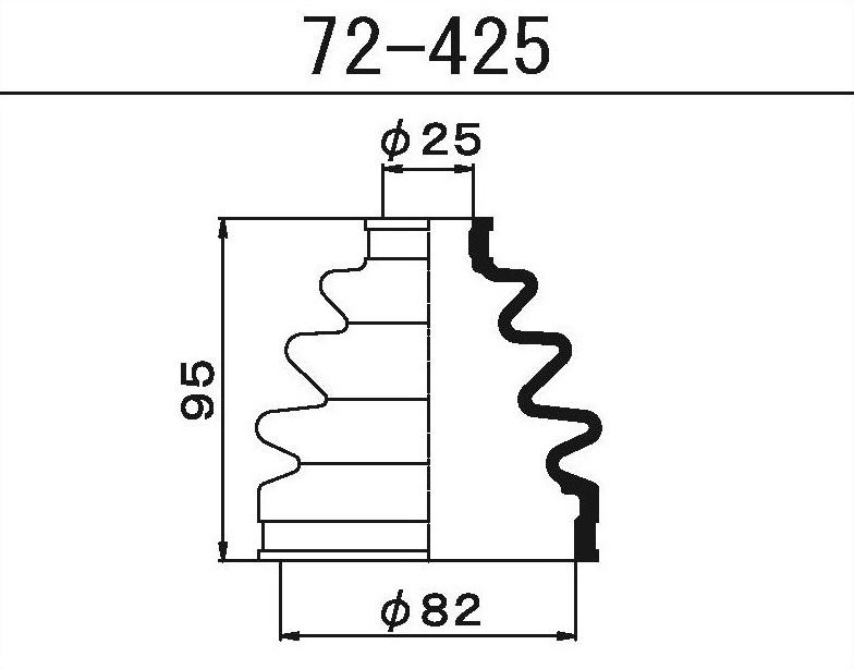 Пыльник ШРУСа наружный NISSAN HONDA (82X25X95)