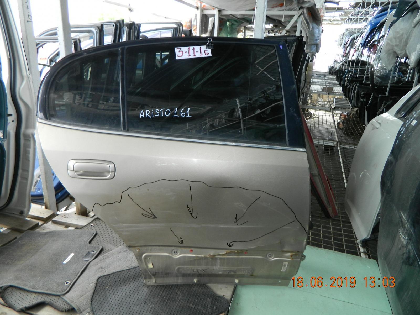 Дверь Toyota Aristo JZC160 задняя правая (б/у)