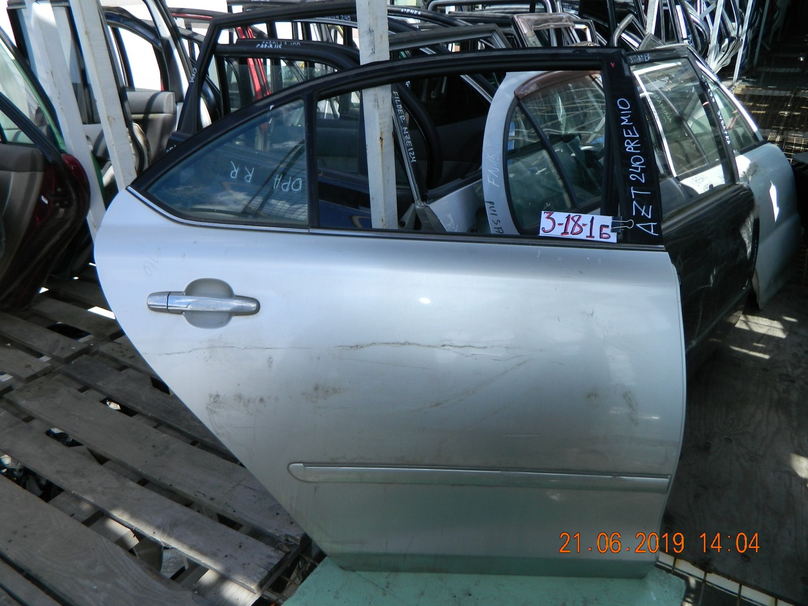 Дверь Toyota Corona Premio ZZT240 задняя правая (б/у)