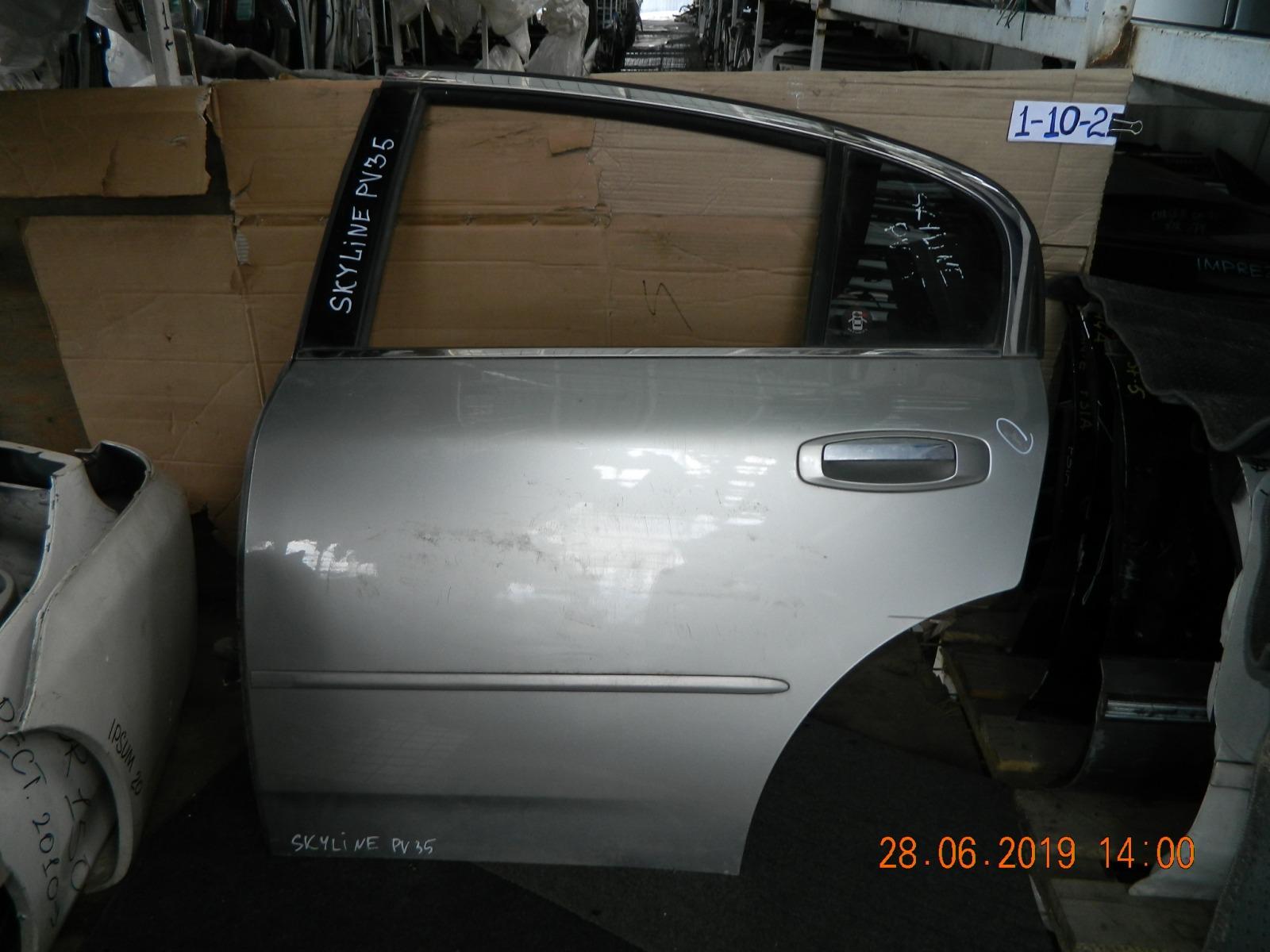 Дверь Nissan Skyline PV35 задняя левая (б/у)