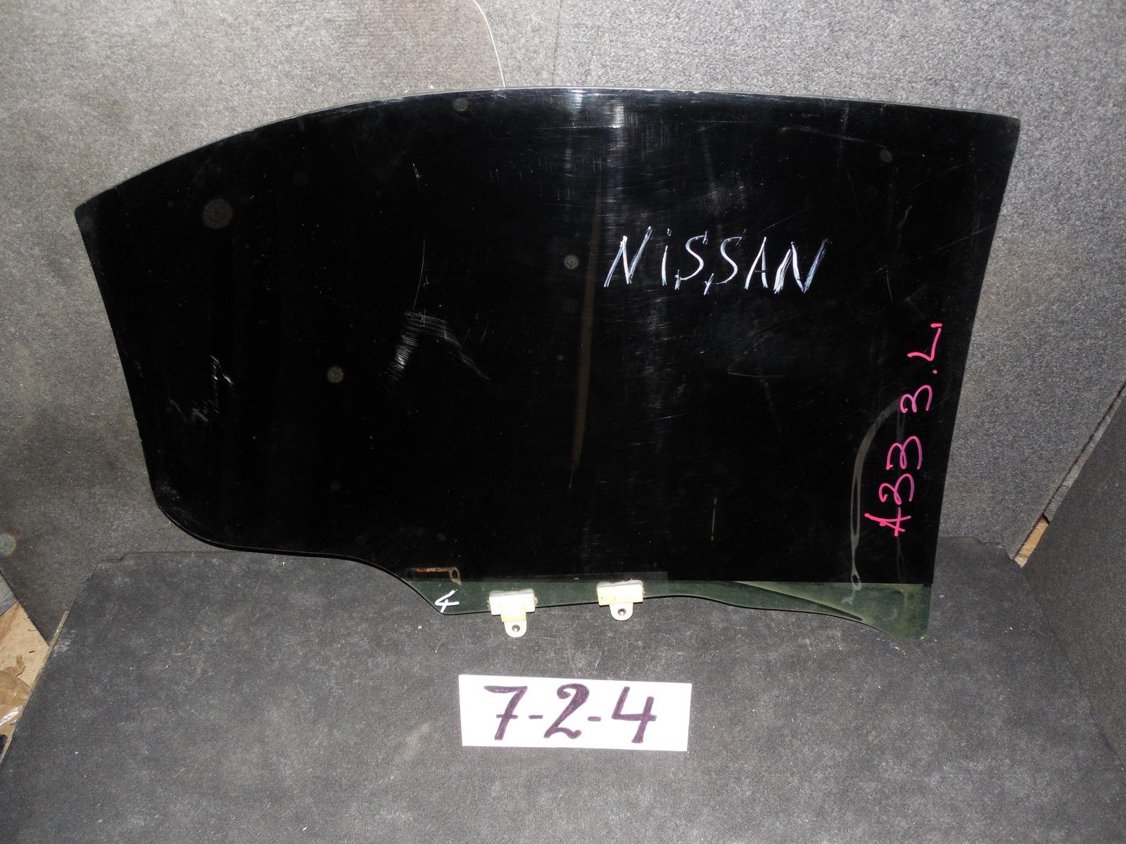 Стекло двери Nissan Cedric A33 заднее левое (б/у)