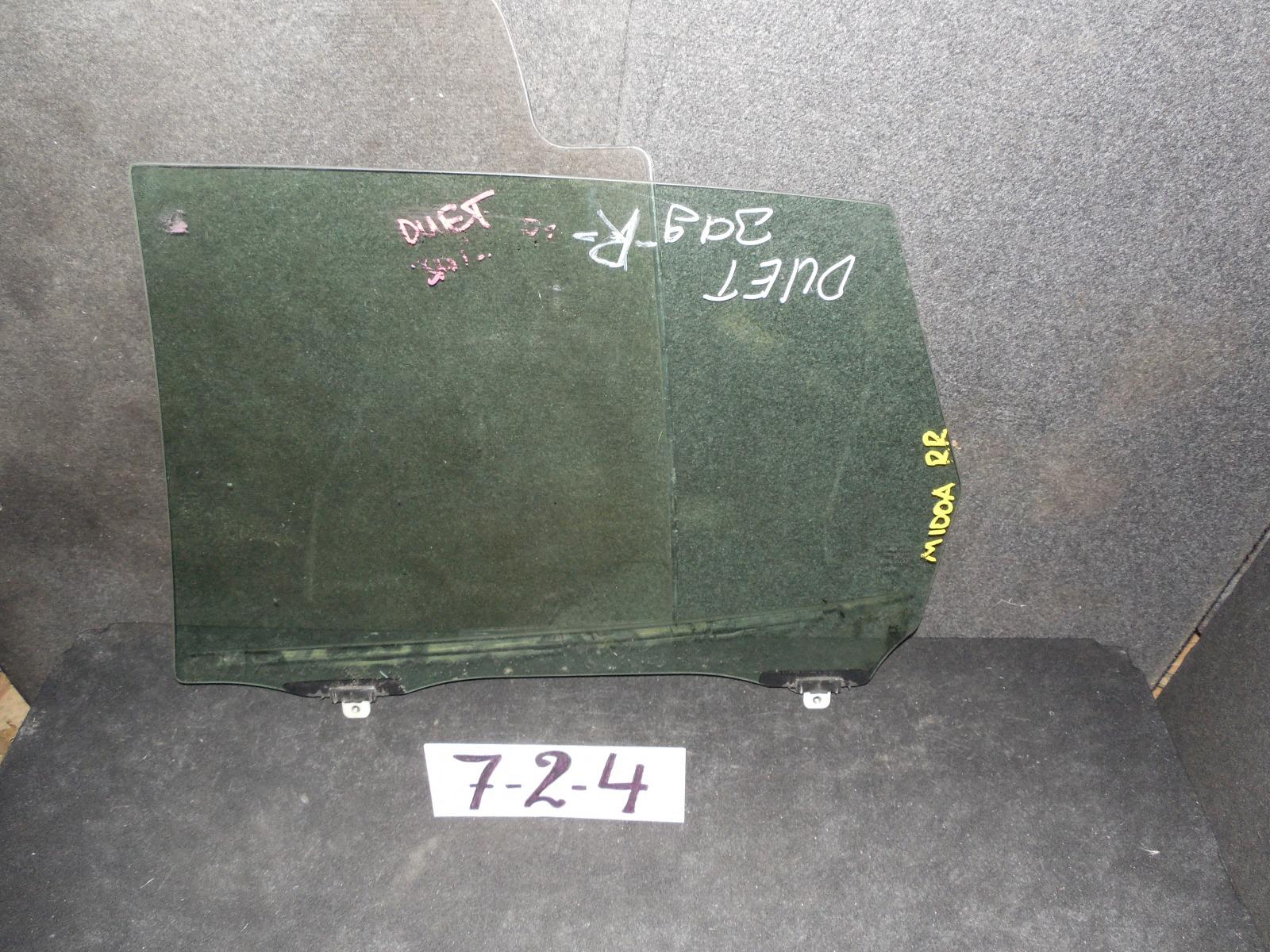 Стекло двери Toyota Duet M100A заднее правое (б/у)
