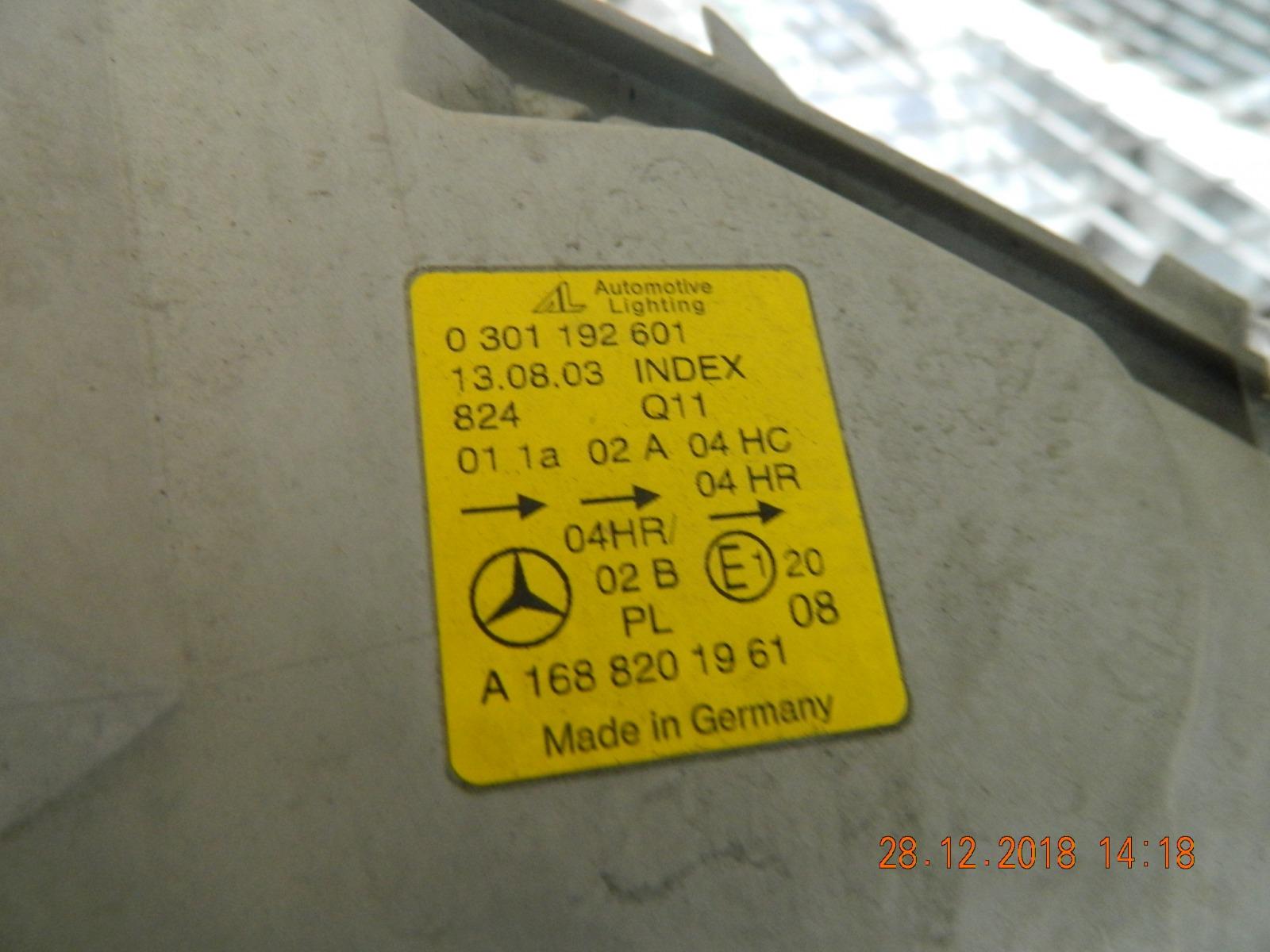 Фара Mercedes-Benz A-Class A180 передняя правая (б/у)