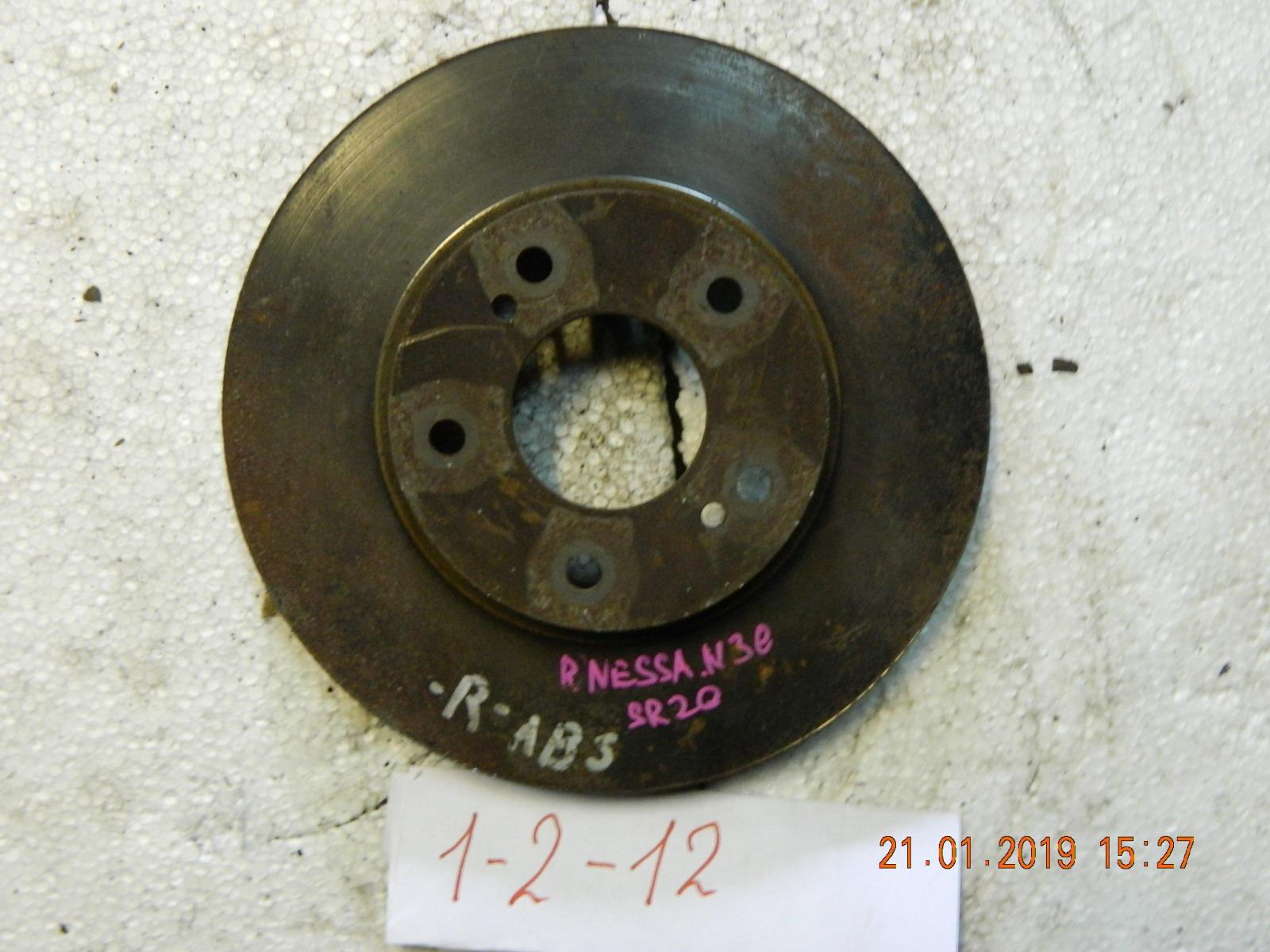 Тормозной диск Nissan Rnessa N30 передний (б/у)