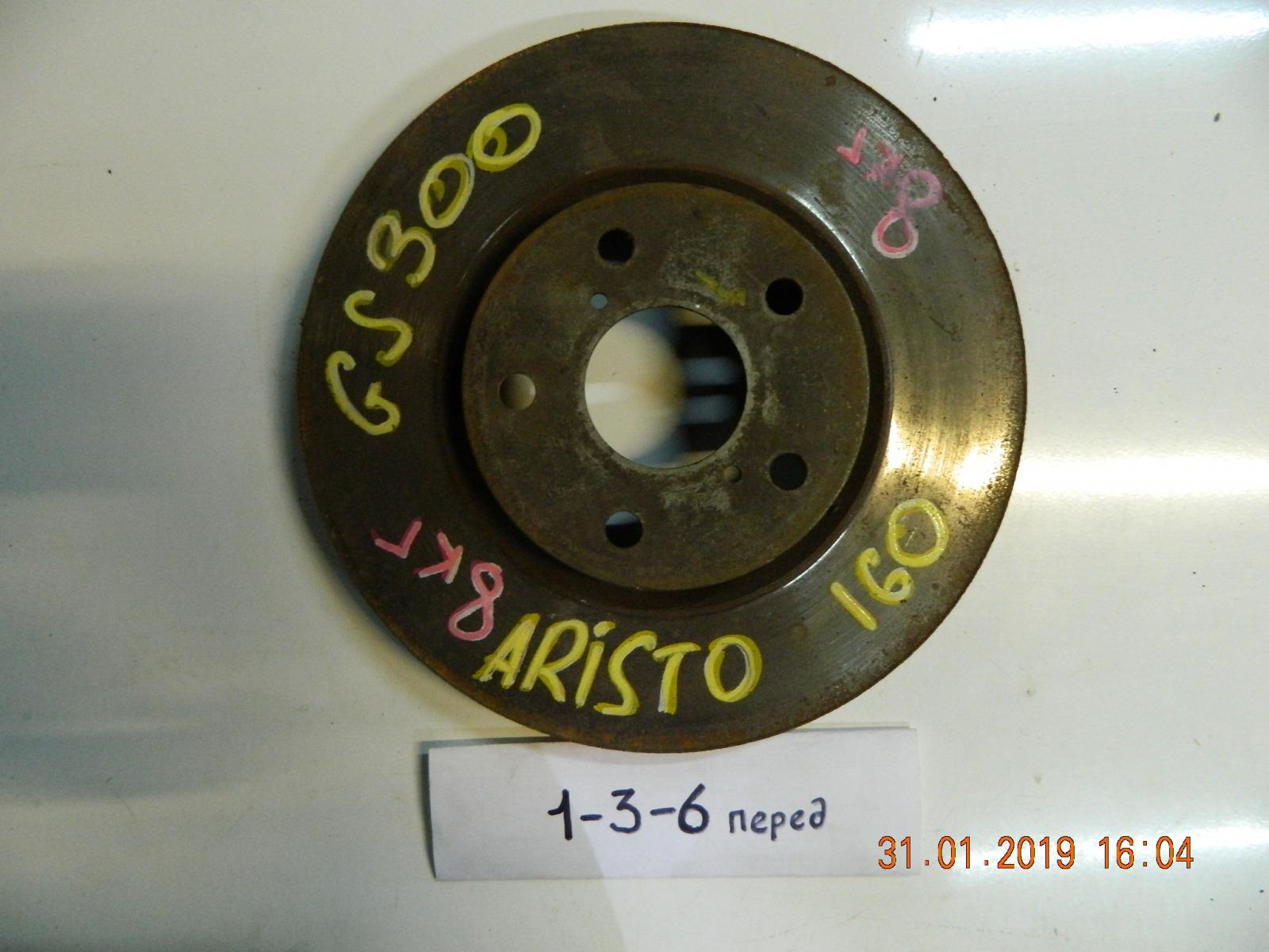 Тормозной диск Toyota Aristo JZC160 передний (б/у)