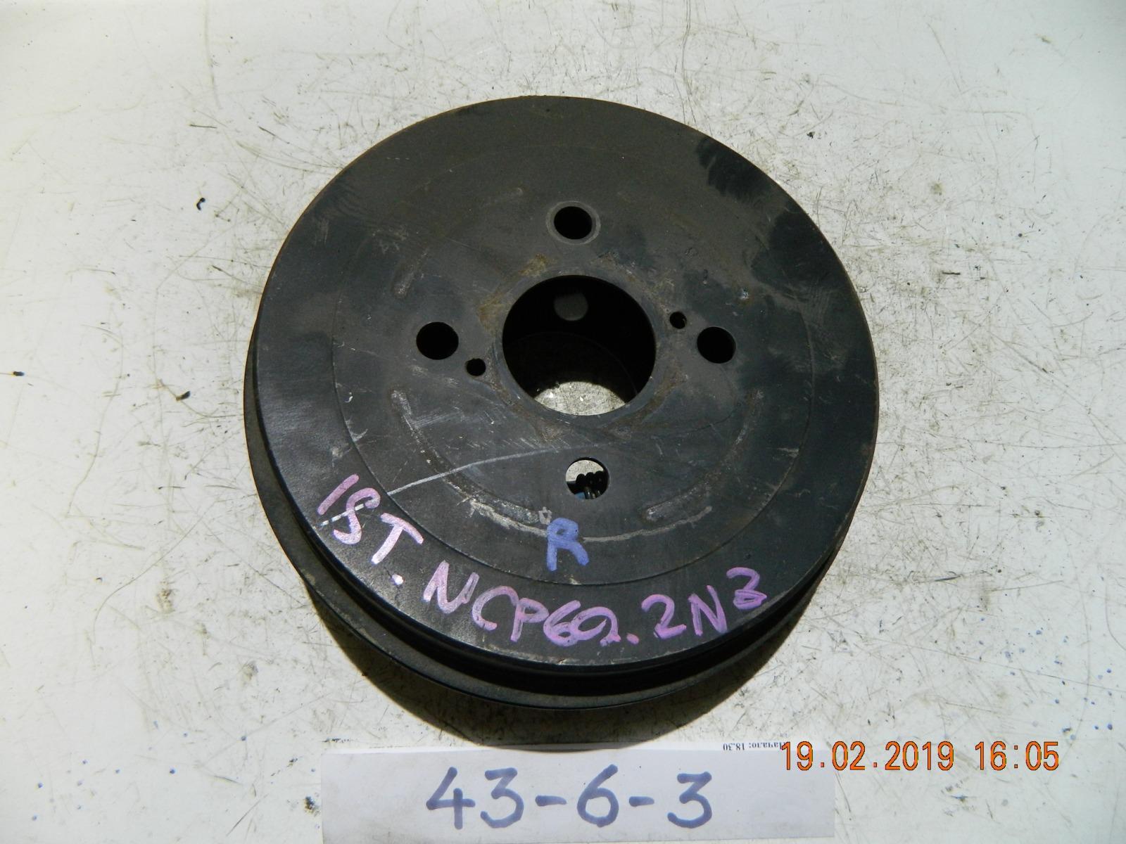 Тормозной барабан Toyota Ist NSP60 задний (б/у)