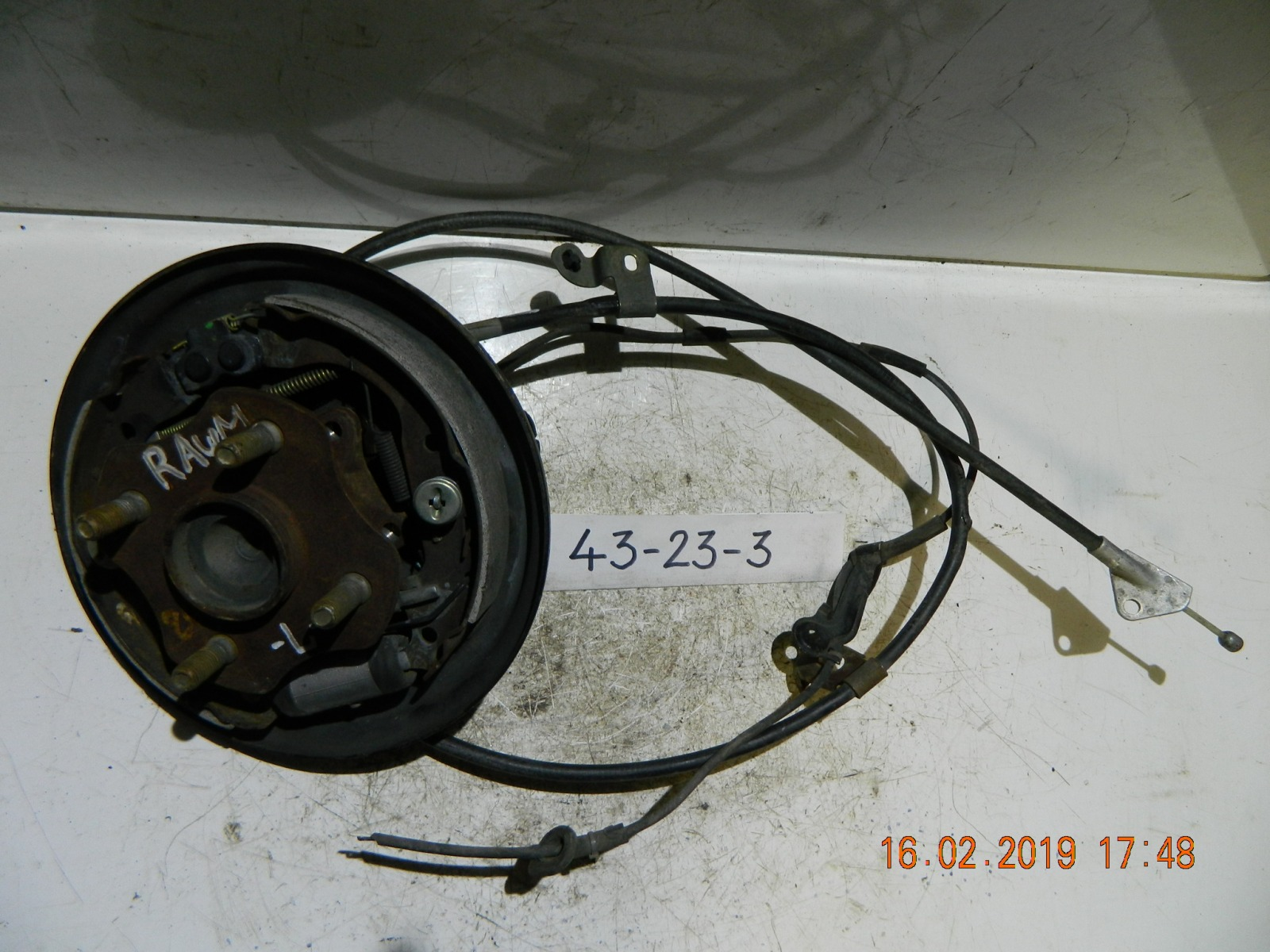 Трос ручника Toyota Raum NCP20 задний левый (б/у)