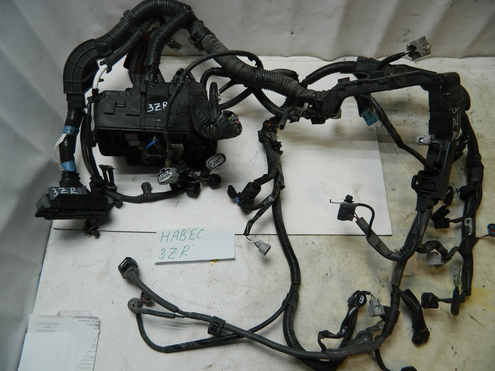 Проводка моторного отсека Toyota Voxy ZRR70 3ZRFAE (б/у)